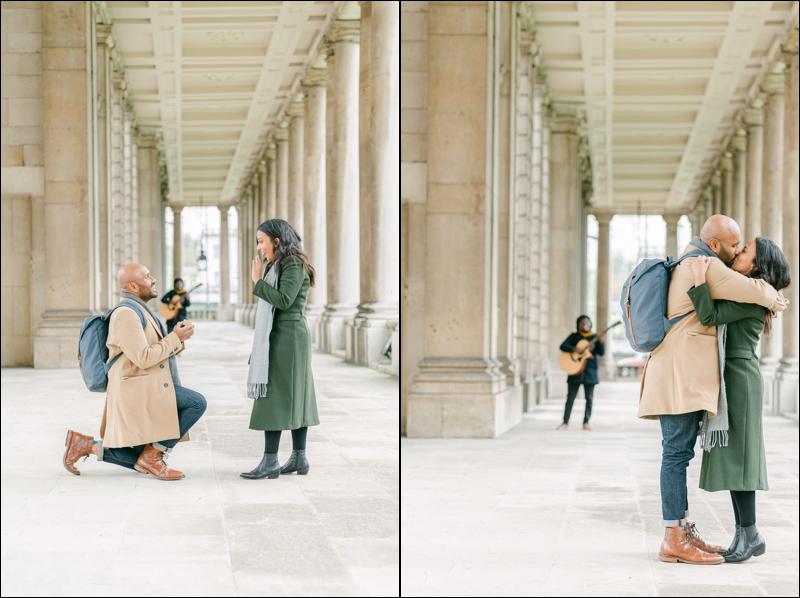 Greenwich London surprise proposal