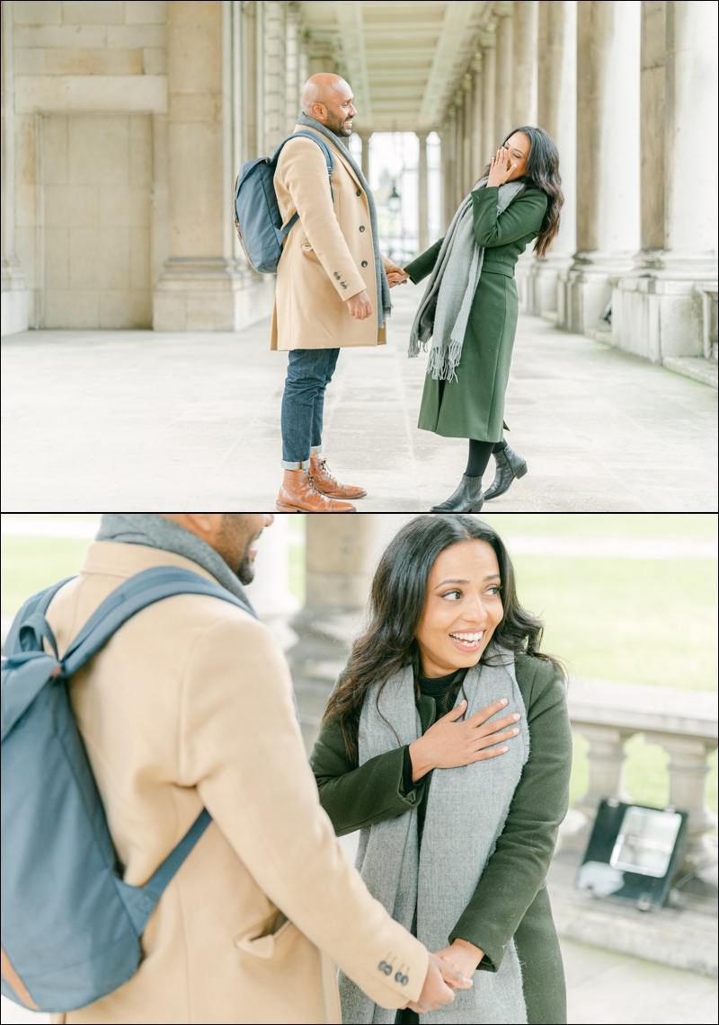 Greenwich Surprise proposal and a beautiful moment